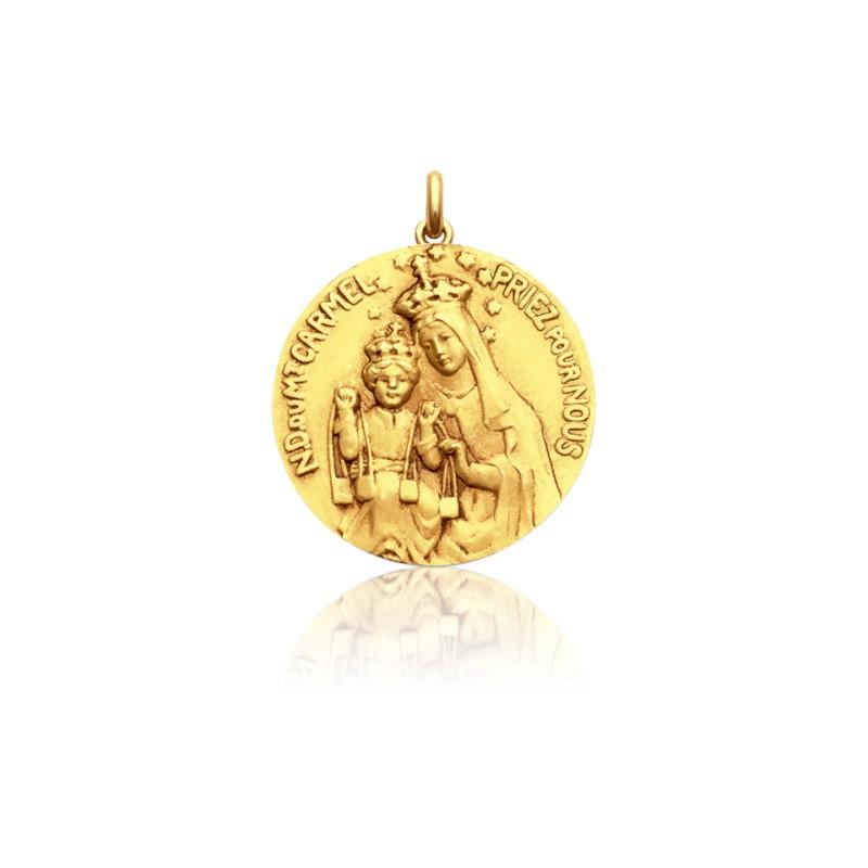 03650ff27fb Medalla de oro Corazón de Jesús y Virgen María - Ocarat