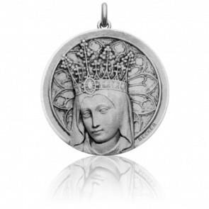 Medalla Redonda Virgen Coronada