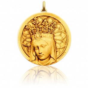 Medalla Redonda Virgen con corona