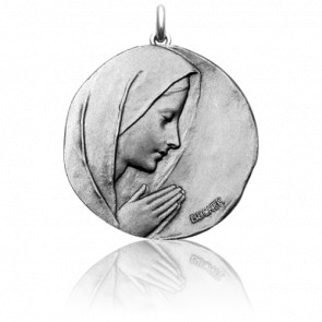 Medalla redonda Virgen orando