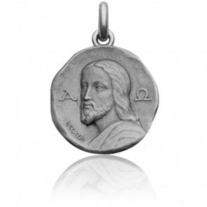 Medalla Cristo de las Catacumbas Oro Blanco