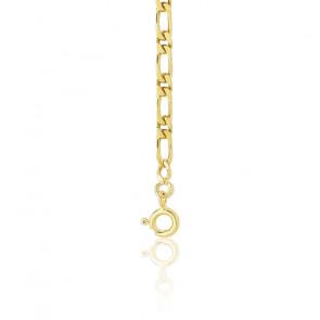 Cadena Bilbao 1x1 40 cm Oro Amarillo 9 kt