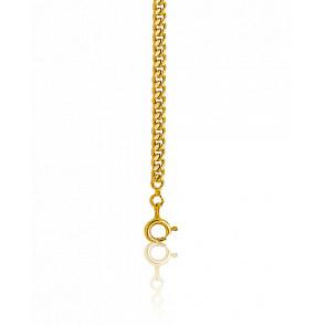 Cadena Barbada de 50cm Oro Amarillo de 9k