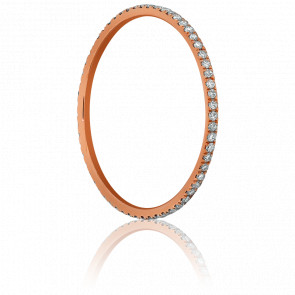 Anillo de boda Oro Rosa y Diamantes 0,18 ct, Infini