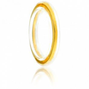 Anillo de Saturno Oro Amarillo Chapado