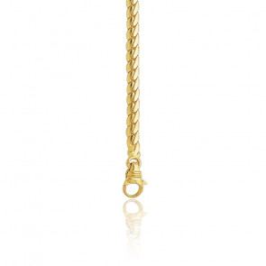 Cadena inglesa hueca 42cm Oro Amarillo 9k