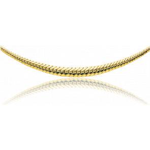 Collar Cascada Cadena Inglesa Hueca Oro 40cm