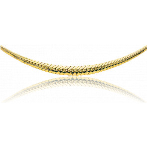 Collar Cascada Cadena Inglesa Hueca Oro 42cm 9k