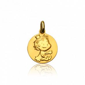 Medalla Oro Amarillo 9k, Curieuse