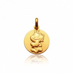 Medalla de Oro Amarillo 9k Rêveur