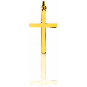 Cruz simple Oro Amarillo 19x33mm