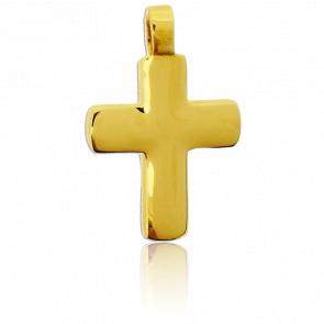 Cruz bombeada Oro amarillo