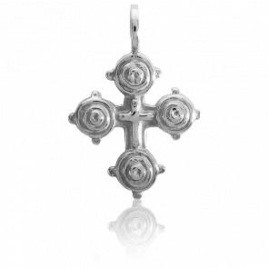 Cruz de Galicia Oro blanco 18k, 18 x 20 mm