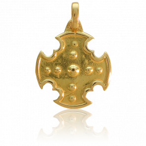Cruz de Oro Amarillo con Relieve