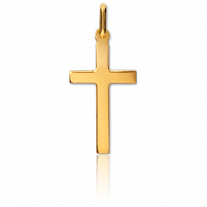 Cruz lisa Oro amarillo 13 x 22mm