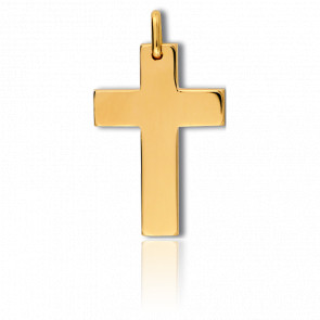 Cruz lisa ancha Oro amarillo