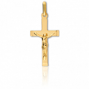 Cruz con Cristo Oro amarillo 23x12mm