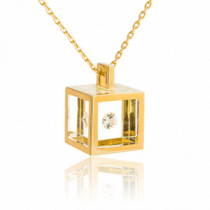 Collar Cubo Oro Amarillo 0,10 Quilates
