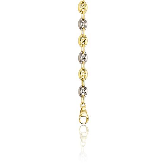 8f382ecefd60 Cadena de oro tipo Calabrote Bicolor Maciza 60 cm - Ocarat