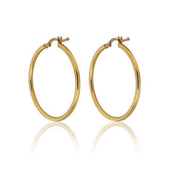 6ffe43abdc0c Pendientes de Aros de oro Amarillo 18kt - Emanssence - Ocarat