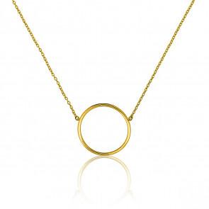 Collar Círculo Oro Amarillo Ø17mm