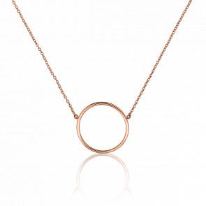 Collar Círculo Oro Rosa Ø17mm