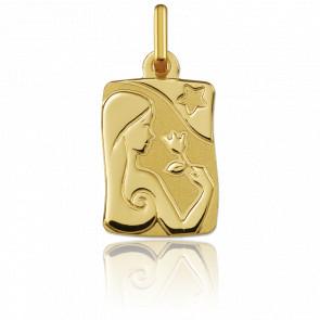 Medalla horóscopo Virgo Oro amarillo 18k