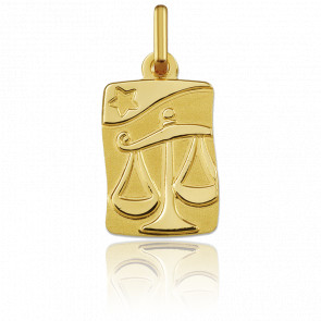 Medalla horóscopo Libra Oro amarillo 18k