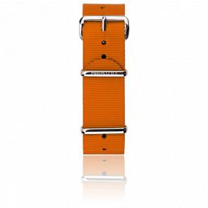 Correa Nato 20mm naranja, Largura 280mm, hebilla acero pulido