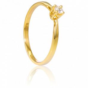 Anillo compromiso Oro Amarillo y Diamante peso 0,08ct.