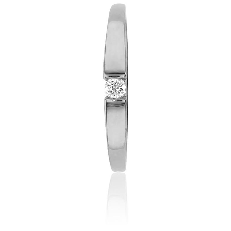 b857970e3722 Emanessence · Alianza compromiso Solitario Oro Blanco peso diamante 0