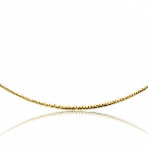 Collar Cascada Cadena Rolo Cerrado 40cm Oro Amarillo 18k
