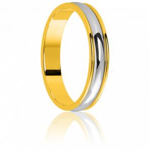 Alianza Bicolor Oro 18k 4,5mm, Saint Supplice