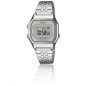 Casio Collection - LA680WEA-7EF - Plateado y gris - LED