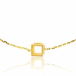 Pulsera Mini Cubo Oro Amarillo
