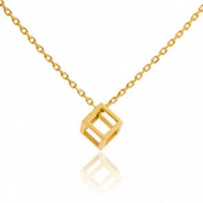 Collar Cubo Oro Amarillo
