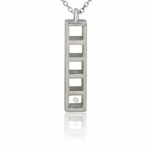 Collar Plata y Diamante 0,01ct