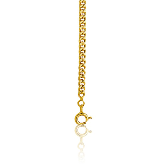 7d4f2c5628f5 Cadena Barbada diamantada 70cm Oro-18k - Ocarat