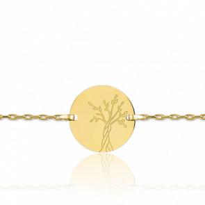 Pulsera Árbol de la Vida  Forzada Oro Amarillo