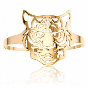 Brazalete Dorado Cabeza de Tigre