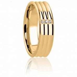 Alianza Arianna Oro amarillo y diamantes
