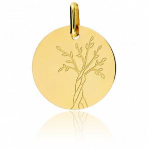 Colgante Árbol de la Vida oro Amarillo 18 kt