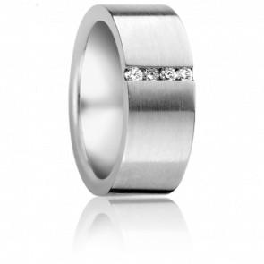 Anillo Johannes Acero y Diamantes