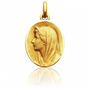 Medalla Ovalada Virgen Oro amarillo
