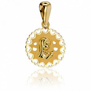 Medalla Virgen Orando Oro Amarillo de 9k