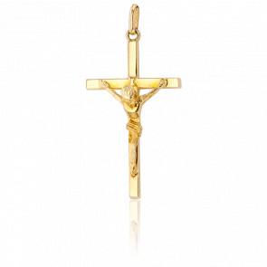 Medalla Cruz con Cristo Oro amarillo,