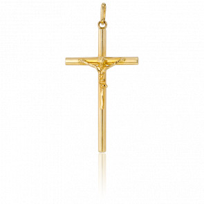 Cruz con Cristo Oro Amarillo 18k, 31,00x 18,00mm,–