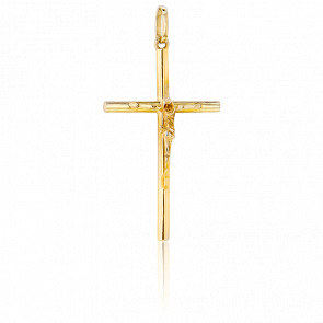 Cruz con Cristo Oro Amarillo 9k, 29,00x 16,50mm,
