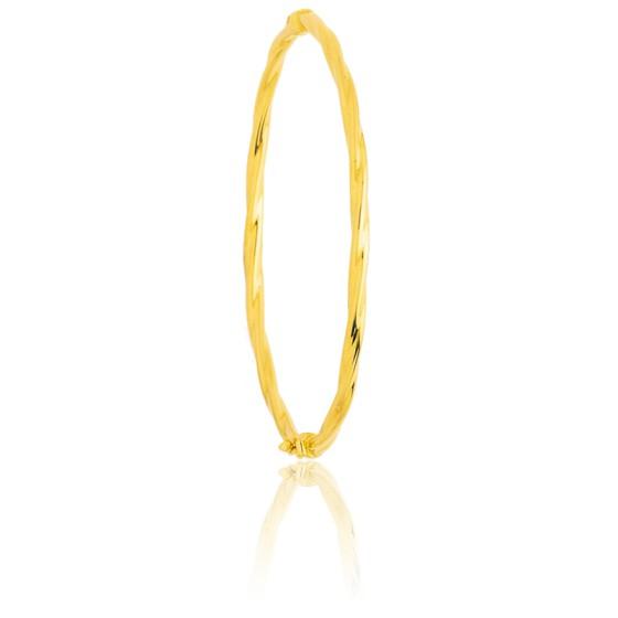 e3a4a4695151 Pulsera Oro Amarillo 18k Caña hueca Espiral - Emanessence - Ocarat