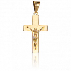Cruz con Cristo Oro Amarillo 18k, 22 x 13,30mm